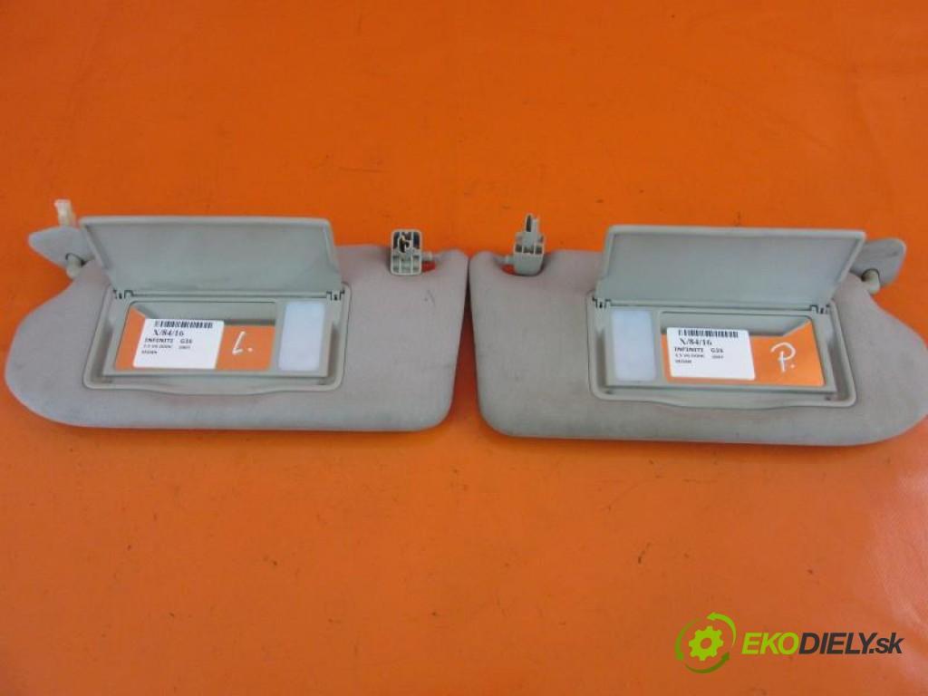 kryty protislnečné  INFINITI G35 3.5 V6 DOHC VQ35HR automatic 0 5 228,00000000 306