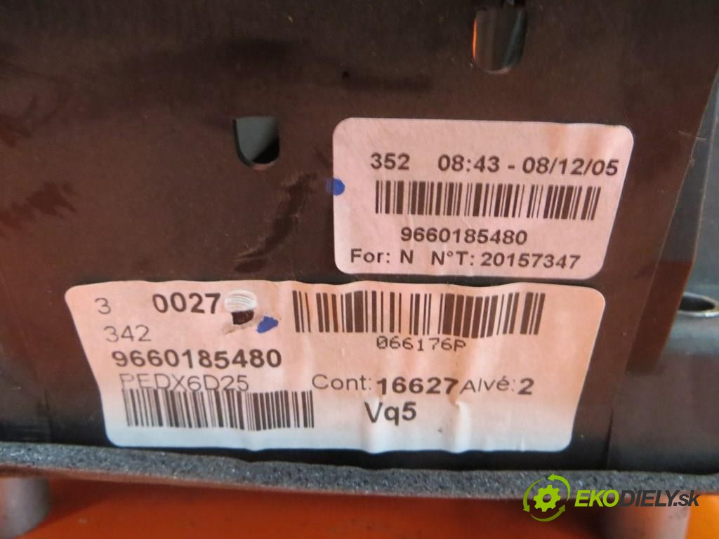 pedal brzdy 9660185480 PEUGEOT 407. 2.7 HDI UHZ (DT17)  0 0 150,00000000 204 5