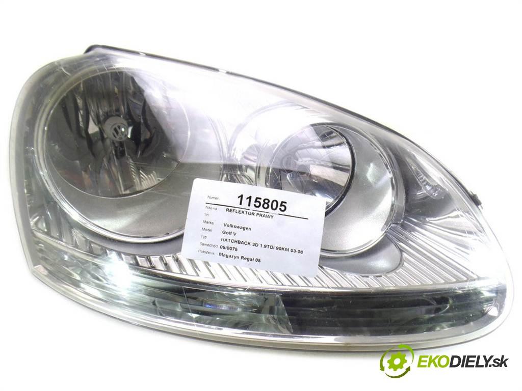 svetlo pravy  Volkswagen Golf V       0